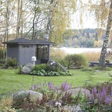 Trädgård på Satava