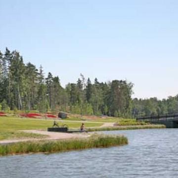 Kauniinilma parken och Uutela kanal