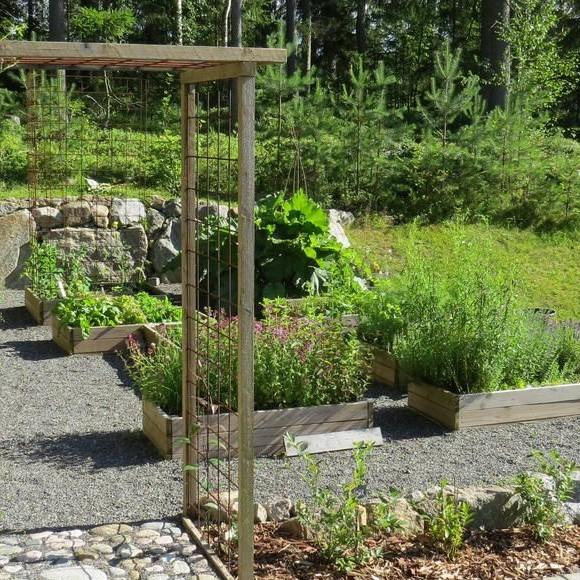 Kristine Vesterlunds trädgård